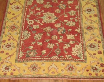 Vintage Turkish Konya Rug Size 5'3''x9'10''