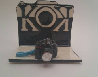 Photography Business Card Holder, Photographer Business Card Holder, Camera Shop,Photography Business Card Holder, Business Card Display