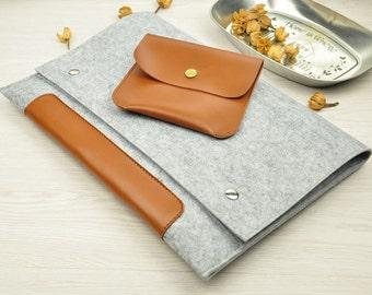 Leather MacBook 12 inch case,MacBook Air 11 case,HP laptop sleeve 11.6,Dell laptop case, Gray MacBook 12 sleeve, 11 inch Macbook Air case