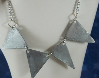 Steel Triangle Necklace (Large)