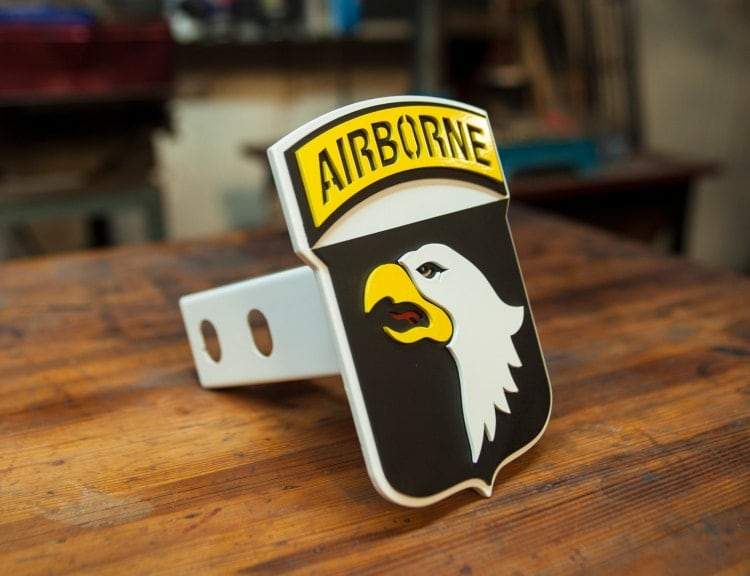 101st Airborne Trailer Hitch Cover 3d Steel By Kempterkustoms