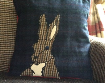 Horace Hare applique cushion