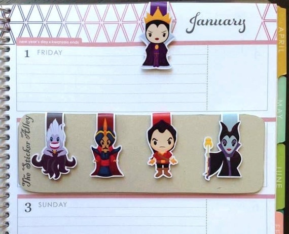 Classic Villains Magnetic Bookmarks || Set of Five