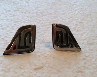 Vintage Sterling Silver Fridl Screw Back Earrings