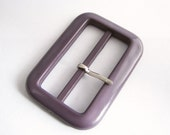 Large Purple Trench coat buckle, Plastic belt buckles in violet colour, unused sewing supplies!