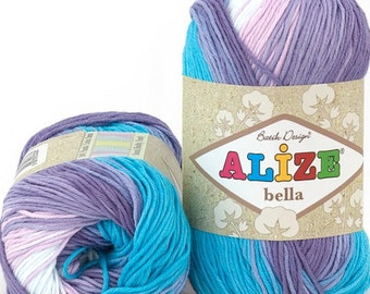 BELLA BATİK Alize 100% cotton yarn for crochet and knitting 50g - 180m
