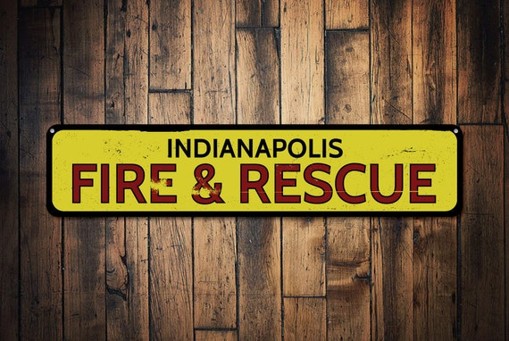 Firefighter Man Cave Signs : City fire rescue sign personalized firefighter man cave