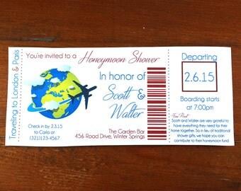 Honeymoon Shower Invitation- Digital