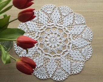 NEW Crochet Doily - White