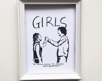 GIRLS Adam & Jessa Print