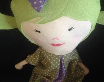 Cuddlebuddy soft fabric doll by kaytycorner