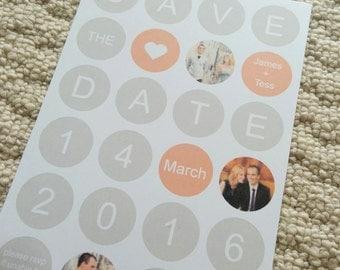 Polka Dot Save The Date Invitation