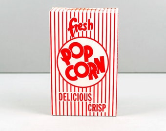 12 Popcorn Boxes 1 oz. retro Red and White Striped with Printable Party Invitation Kit and Label Stickers