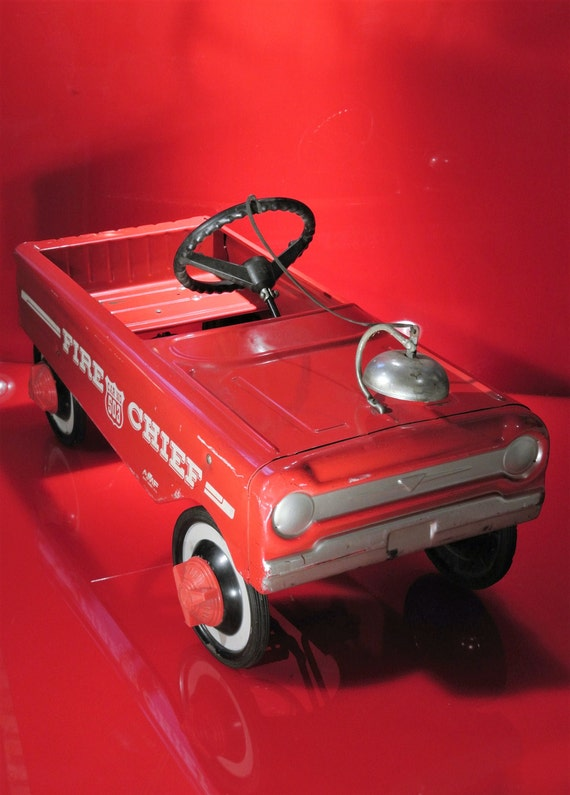 VTG 60's AMF Red Fire Truck Pedal Car