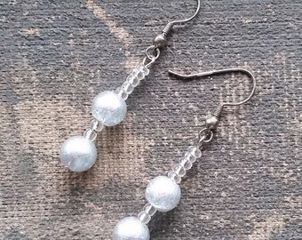 Silver Drop Earrings, Handmade Earrings, Dangle Earrings-Ready To Ship