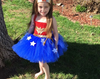 Wonder Girl Tutu Dress, Super Hero Tutu Dress, Wonder Girl, Wonder Woman Tutu Costume