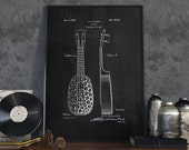 Ukulele Patent Print, Guitar Patent, Patent Wall Art, Home Decor, Music Room Decor, Guitarist - DA0109
