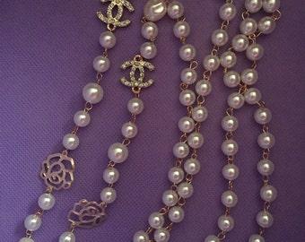 Valentine's Day Sale!! Pearl Rhinestone Fashion Necklace