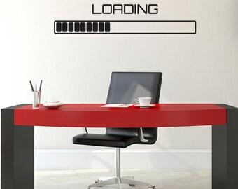 Loading Symbol Wall Sticker - Computer Progress Bar Wall Sticker