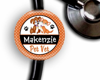 Pet Vet Veterinarian Personalized Stethoscope ID Tag