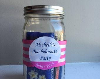 Bachelorette Party Survival Kit Mason Jar - Bachelorette Party Favor