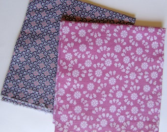 Vintage Cotton Feedsack Fabric Floral and Geometric