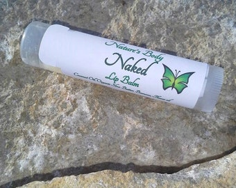 Naked Lip Balm, Plain Lip Balm, Natural Lip Balm, Shea Butter Lip Balm, Natural Lip Care