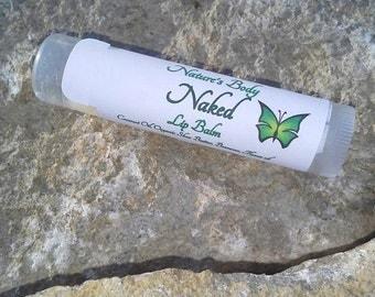 Naked Lip Balm, Plain Lip Balm, Natural Lip Balm, Shea Butter Lip Balm, Natural Lip Care