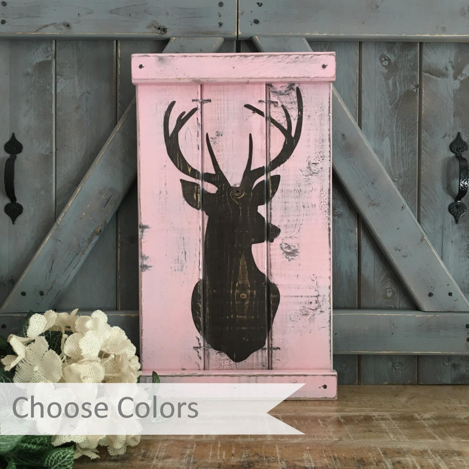 Hunting decor pink camo rustic nursery decor by for Pink camo decorations