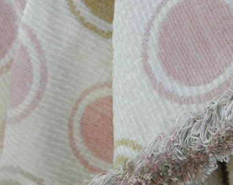 Contemporary Poka Dot Throw Blanket with Feminine Accents