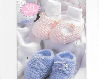 Baby Booties by Leisure Arts, Crochet Booties Patterns, Knitted Baby  Booties Patterns, 10 Designs, Crochet and Knit Infant Patterns