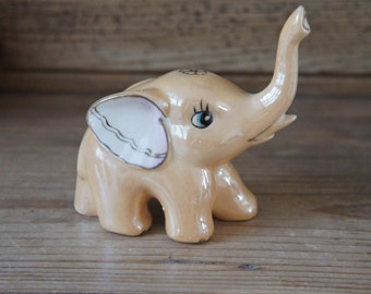 Rare Vintage Ceramic Elephant Ornament
