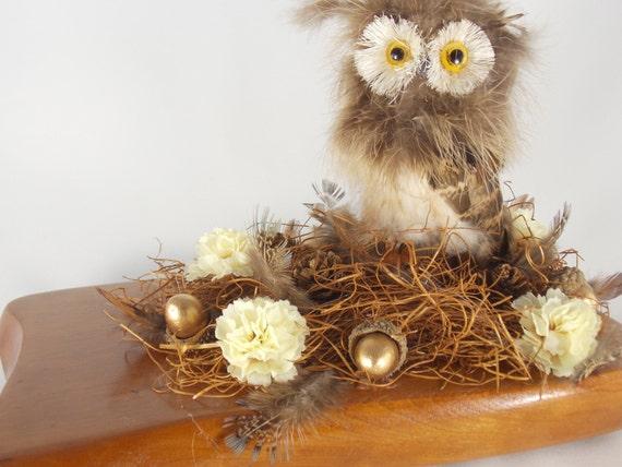 Woodland Owl Decor Nursery Decor Rustic Wedding Decor