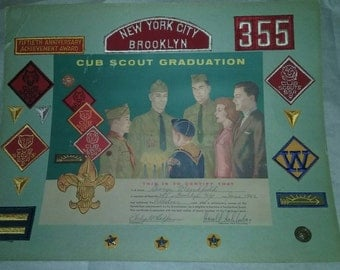 1962 New-York city Brooklyn, Cub Scout WEBELO Graduation Patches & pins set