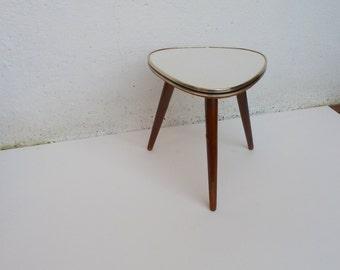 vintage old flower stool, flower table