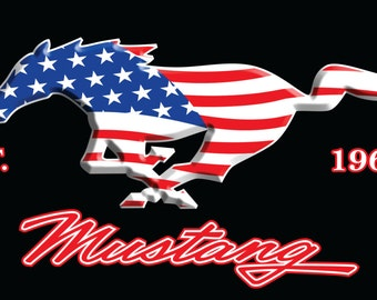 Ford Mustang Beach Towel 30x60
