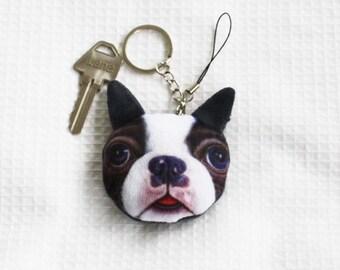 Pug puppy keyring