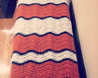 Crochet Nemo Blanket, Finding Nemo inspired Baby Afghan, Handmade baby shower gift, crib blanket