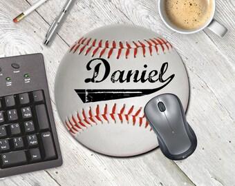 Baseball Mouse Pad, Sports Mouse pad, Baseball Mousepad, Personalized Mouse Pad, Sports lover
