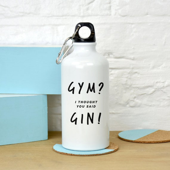 Gym Gin Water Bottle Gym And Tonic Gin Gifts Funny Gym