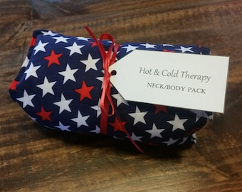 "Patriotic Hot & Cold Therapy Rice Pack - ""I'm Seeing Stars"""