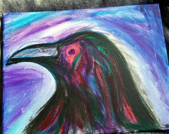 Multicolor Raven Painting