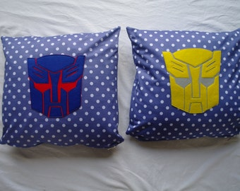 Transformers Cushion Cover with Autobot Design (Optimus Prime)