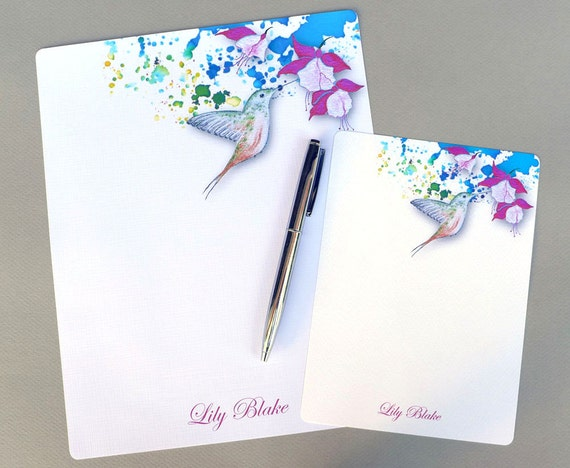 letter stationery complete personalized stationery set letter writing set 23156 | il 570xN.864744234 t708