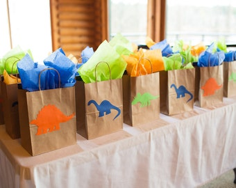 Dinosaur Party Favor Bags, Dinosaur Party, Good Dinosaur Favor bags, Jurassic Park Party, dinosaur goodie bag, good dinosaur favor bags