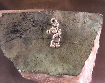 Cute Teddy Bear Tibetan Silver Charms