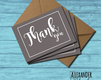 Squiggly Thank You Postcards (pack of 3)