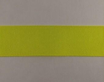 7/8 Inch Brilliant Yellow Grosgrain Ribbon