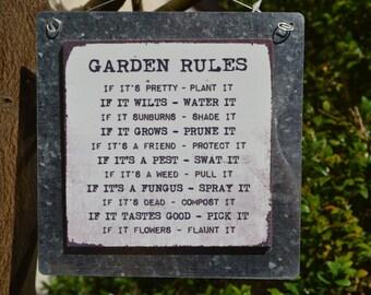 Garden Sign (garden rules)