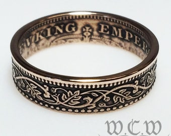 Indian Coin Ring - Bronze 1/2 Pice Coin